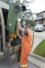 VIDEO: Truck drives away with green bins