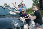 Great Wolf Lodge charity car wash