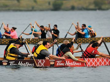 Energy builds for annual dragon boat races in Barrie