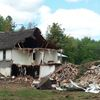 Balmoral Lodge in state of demolition.