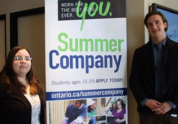 : Alexandra Zemba (left) and Jordan Zelt participated in the Summer Company Program in 2014.