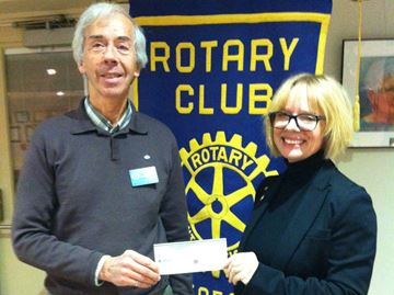 Meaford Rotary makes donation to polio campaign