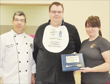 Community - In their first foray into the TLC Ministries' annual Soupfest this year, The Good Life Bistro of Smiths Falls earned top marks for best creative soup from the judges for their squash and pear bisque with maple cinnamon cream. From left: Soupfest judges Jocelyn Myre and Drew Hosick with The Good Life Bistro's Amanda Humphrey.