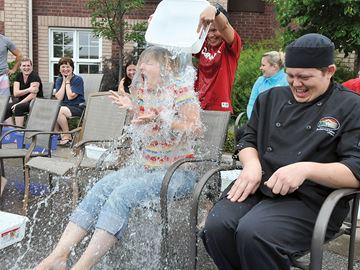 Uxbridge Butternut Manor ALS Ice Bucket challenge