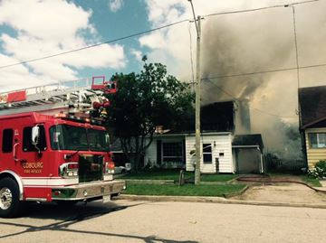 Cobourg house fire sends two to hospital