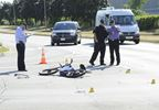 Cyclist struck