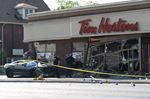 Car crashes into Tim Hortons