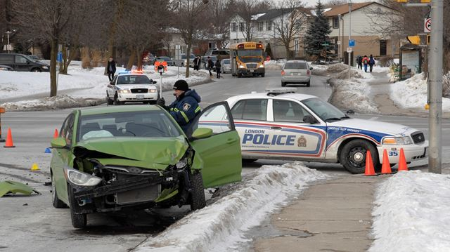 London police cruiser involved in crash
