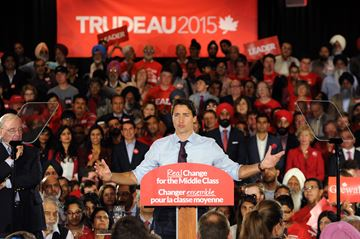 Trudeau Rally Aug 25