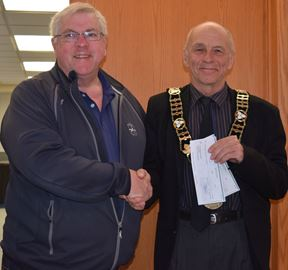 First dividend cheque presented