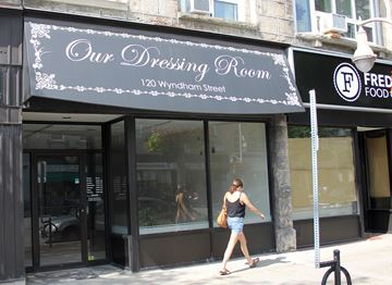 An application to open a cannabis retail store at this location at 120 Wyndham St. N. was one of 42 selected in an Alcohol and Gaming Commission of Ontario lottery on Aug. 20. The winners of the lottery can now apply for retail licences for their respective locations, which are set to start opening as soon as October. Another location on Victoria Road South is second on the wait list for the area.