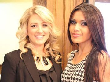 Victoria Bourque Beauty Boutique owner Victoria Bourque (left) and Bradford singer Ashley Martinez attended the Bradford Board of Trade awards night April 24 at Silver Lakes Golf Club. More than 150 business owners, guests and other officials celebrated the best in business.