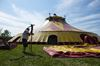 Up goes the big top