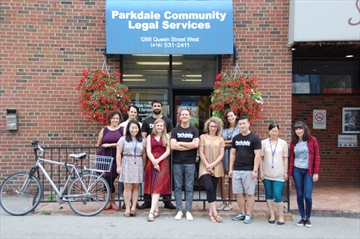 Student caseworkers from Parkdale Community Legal Services