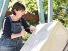 Fly Freeman carves An Uxbridge Story in Stone