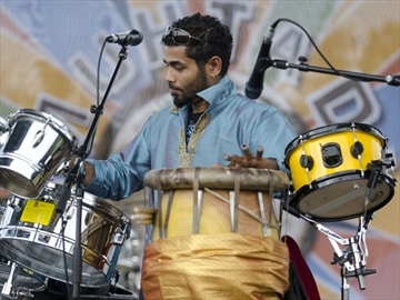 Ananthakumar Nadarajah, aka DR. RiddiM, plays with his group Bass'ment Sound Crew at the 2012 Muhtadi International Drumming Festival at Woodbine Park last year.
