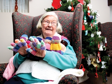 She knits you a merry Christmas