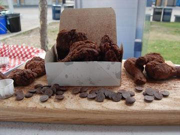 Deep fried chocolate chicken
