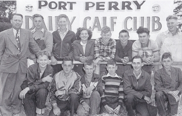 Port Perry 4-H Calf Club from 1950