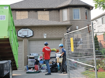 Cleaning up after Bowmanville house fire
