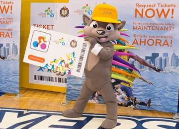 Tickets on sale courtesy pachi the pan am parapan am games mascot