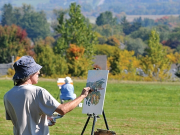 Plein air painting at Uxbridge Historical Centre
