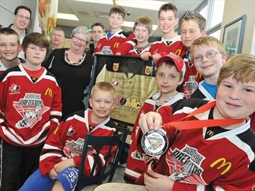 Golden Moment jersey presented to Scugog McDonald's