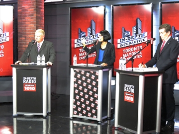 TORONTO VOTES: Mayoral contenders on-air for radio debate-image1