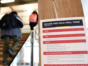 Secure-and-hold drill at UOIT