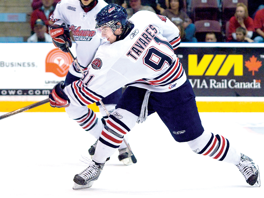 Top 7 career point scorers for Oshawa Generals