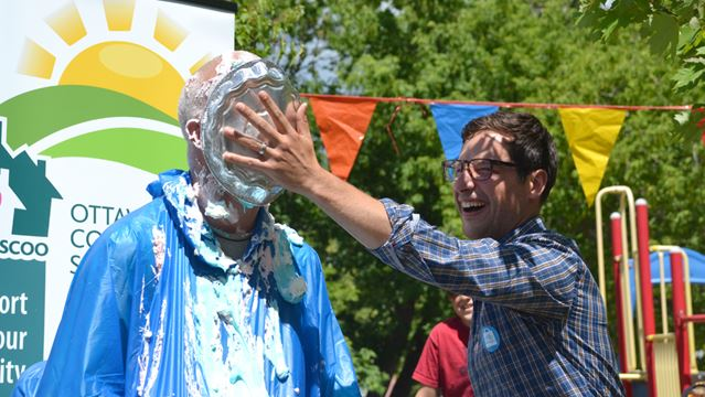 Leiper takes a pie or four to help community