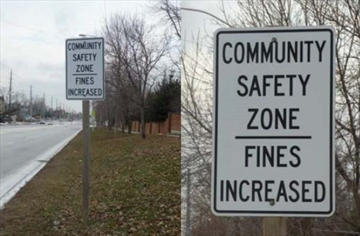 York Region adds four new community safety zones this fall. The zones will be enforceable when the road signs are in place. Courtesy of York Region.