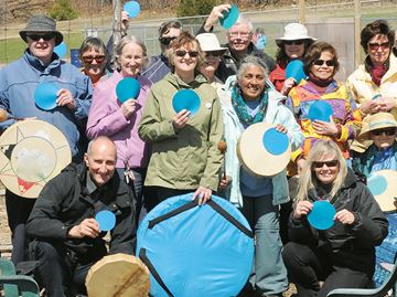 Blue Dot activists spotted in Midland's Little Lake Park