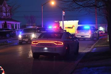 A portion of Tozer Crescent was closed Tuesday evening as Durham police investigate a shooting in the area.