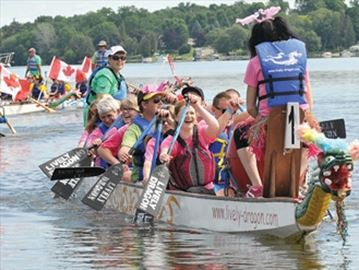 Dragon Boat races in Port Perry