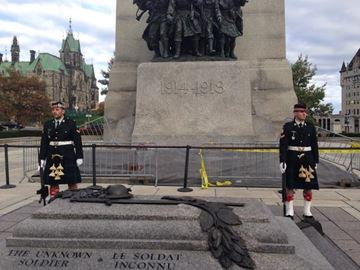 National War Memorial Ottawa this morning