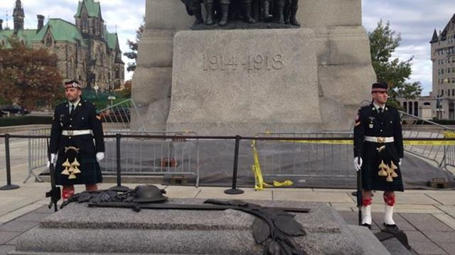National War Memorial Ottawa this morning