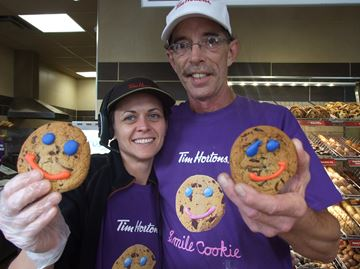 Tim Hortons smile cookies on the menu in Orillia
