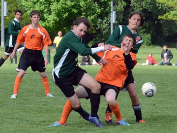 The Sir Wilfrid Laurier Secondary School Rams took down the Clarke Road S.S. Trojans 3-2 on Friday (May 24) in the AAA Thames Valley District School Board (TVDSB) Central Boys Soccer division final at North London Fields.