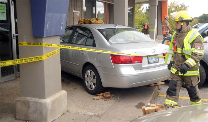 Vehicle Crashes Into Bank Hits Pedestrian In Cambridge
