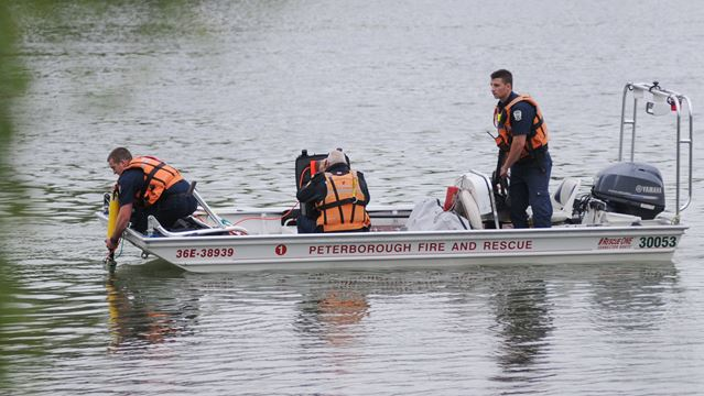 Otonabee River search for missing man on Aug. 20, 2014