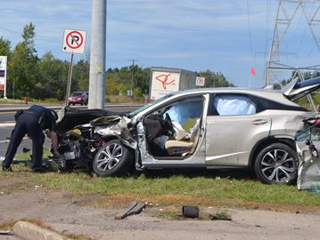 Collision closes northbound lanes of Hwy. 6 at Carlisle Road