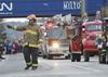Local firefighters take part in the Santa Claus Parade