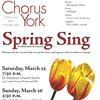 Chorus York Spring Sing poster