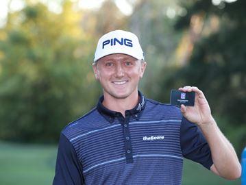 Mackenzie Hughes with 2017 PGA Tour card