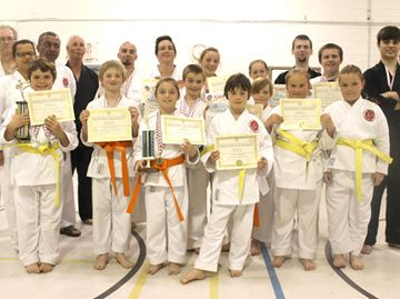 Meaford Karate Club members get new belts