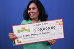 Oakville resident wins $100,000 lottery ticket jackpot