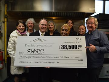 PARC receives donation from Boulevard Club