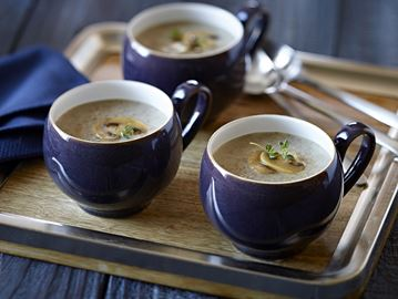 Creamy mushroom soup great on a cold day