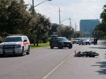 Pickering motorcycle accident